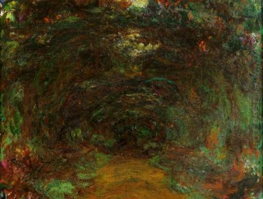 Path Under The Rose Trellises Giverny 1922