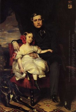 Portrait Of The Prince De Wagram And His Daughter Malcy Louise C