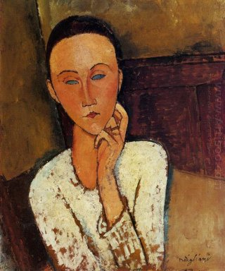 lunia czechowska with her left hand on her cheek 1918