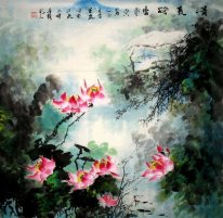 Birds singing-Flower fragrance - Chinese Painting