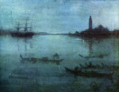 Nocturne In Blue And Silver The Lagoon Venice 1880