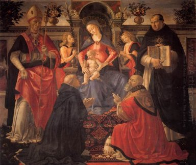 Madonna And Child Enthroned With St Dionysius Aeropagita Domenic