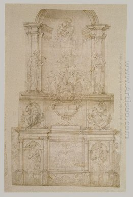 Design For Julius Ii Tomb First Version