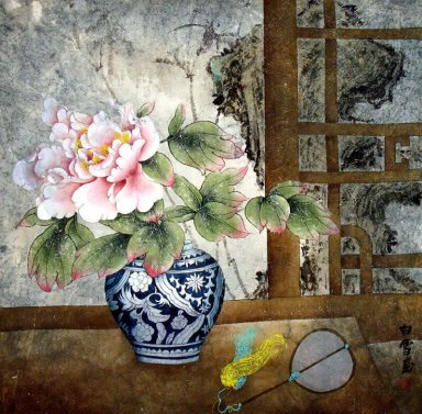 Peony-In Bottle - Chinese Painting