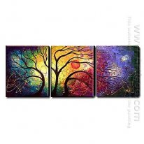 Hand Painted Oil Painting Landscape - Set of 3 1211-LS0225