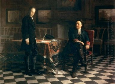 Peter The Great Interrogating The Tsarevich Alexei Petrovich At