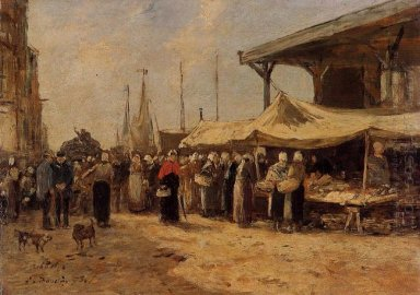 Trouville Fish Market 1875