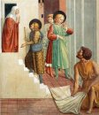 Birth Of St Francis Prophecy Of The Birth By A Pilgrim Homage Of