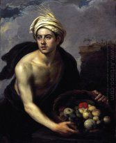 A Young Man With A Basket Of Fruit 1640
