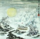 Nieve, luna - pintura china