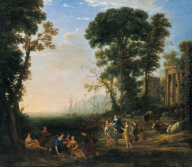 Coast Scene With Europa And The Bull Oil On Canvas Painting By C
