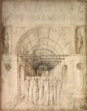 The Twelve Apostles In A Barrel Vaulted Passage 1470
