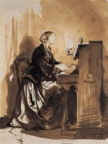 Countess Potocka Playing Piano