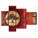 Hand Painted Oil Painting Landscape - Set of 4 1211-LS0228