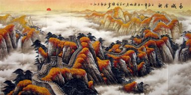Great Wall - Chinese painting