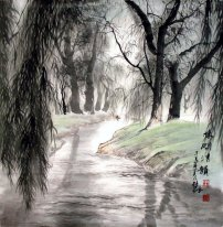 Country road - Chinese Painting