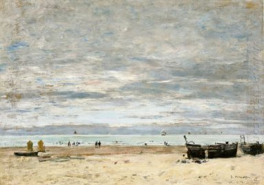 Berck The Beach At Low Tide 1882