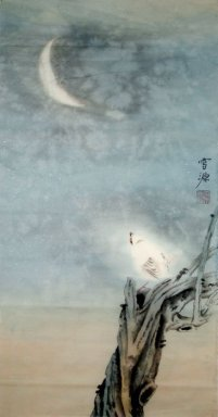 Birds&Moon - Chinese Painting