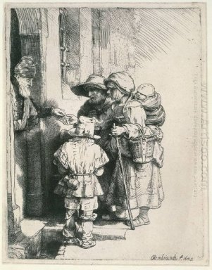 Beggars On The Doorstep Of A House 1648