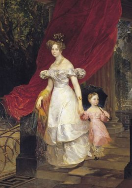 Portrait Of Grand Duchess Elena Pavlovna And Her Daughter Maria