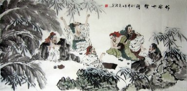 Seven Sages-Chinese Painting