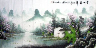 The village in the spring - Chinese Painting