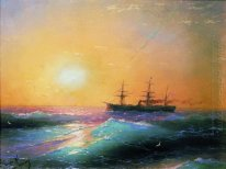 Sunset At Sea 1886