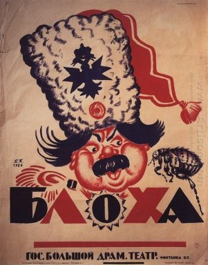 Poster Of The Play Flea 1926 1