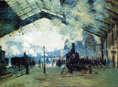 Arrival Of The Normandy Train Gare Saint Lazare