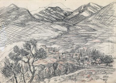 Village At The Foot Of The Mountain 1937