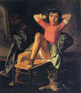 Girl And Cat 1937