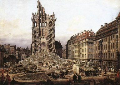 The Ruins Of The Old Kreuzkirche Dresden 1765