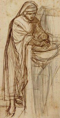 Sketch For Dante At Verona With A Preliminary Study For The Prin