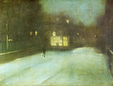 Nocturne In Grey And Gold Chelsea Snow 1876