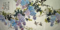 Birds & Flowers (Purple) - Chinesische Malerei
