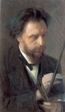 Portrait Of The Artist G G Myasoedov 1872