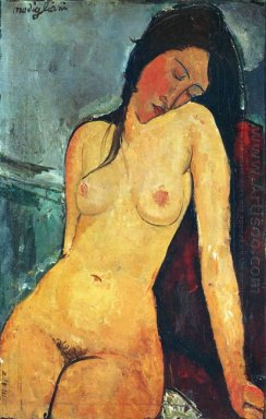 seated female nude 1916