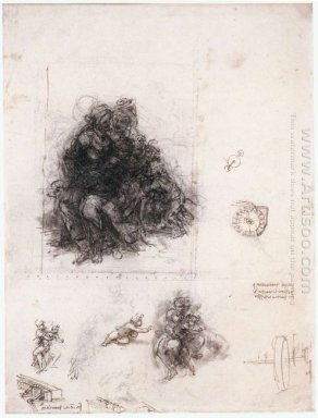 Study For The Burlington House Cartoon The Virgin And Child With