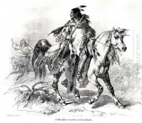 Blackfeet warrior on horseback