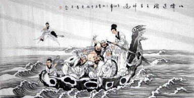 Eight Immortals- Chinese Painting