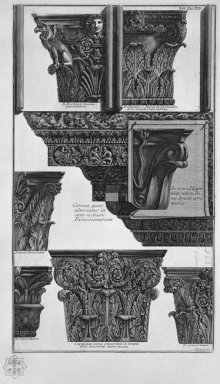 Various Capitals St John Lateran St Mary In Cosmedin S Lorenzo F
