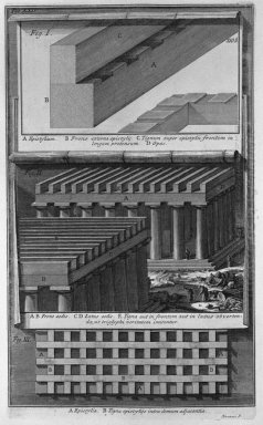 Another Perspective View And Details Of The Doric Temple