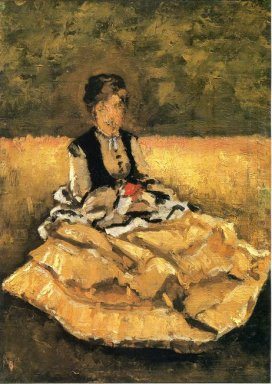 Woman Seated On The Lawn