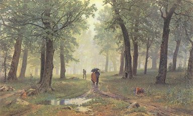 Rain In The Oak Grove 1891