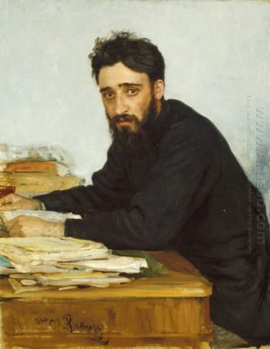 Portrait Of Writer Vsevolod Mikhailovich Garshin 1884