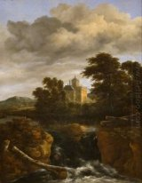 Landscape with a Waterfall and Castle