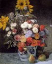 Mixed Flowers In An Earthware Pot 1869