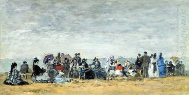 Beach Scene At Trouville 1
