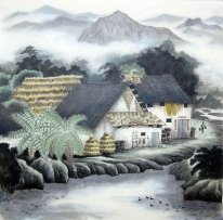 A small village - Chinese Painting