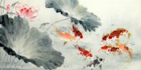 Fish-Lotus - pintura china